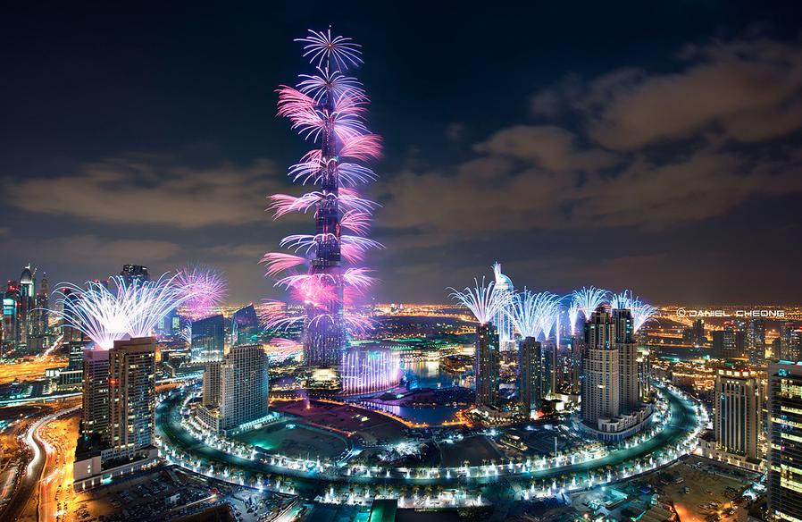 Башня Бурдж-Халифа в Дубае