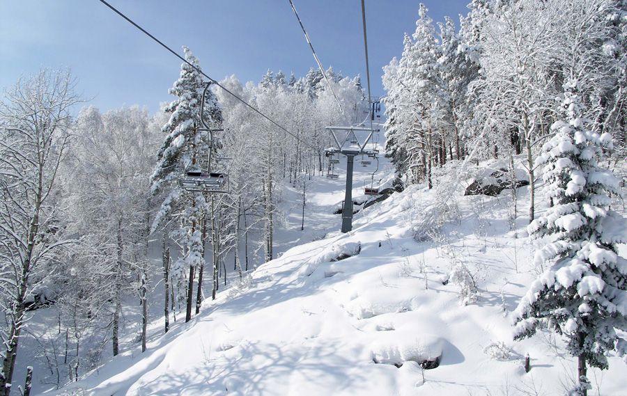 Алтай, курорт Белокуровка зимой
