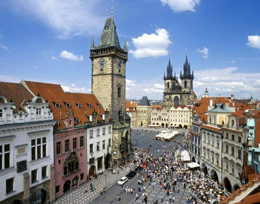 Прага - живописный туристический город