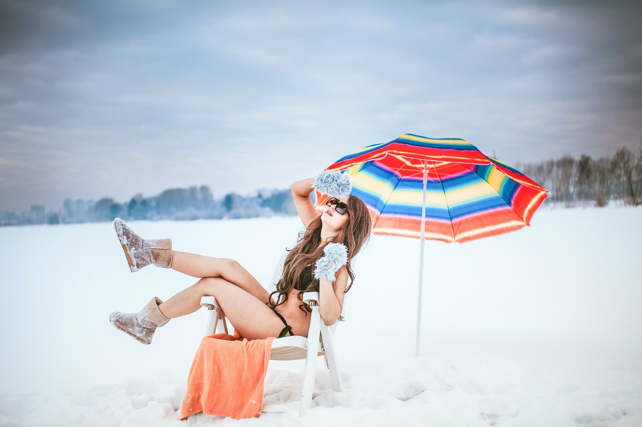Пляжный отдых в зимнее время